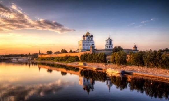 Pskov Krom, or, The Pskov Kremlin is an ancient citadel in Pskov, Russia