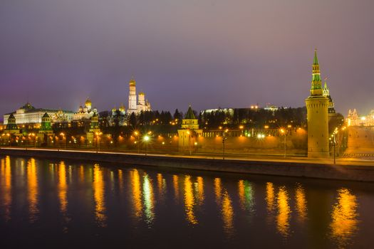 Moscow-river, Moscow, Russia, Moscow Kremlin