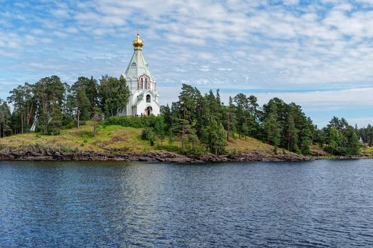 Ladoga lake, Balaam, Skete in the name of St. Nicholas the Wonderworker, landscape, Russia