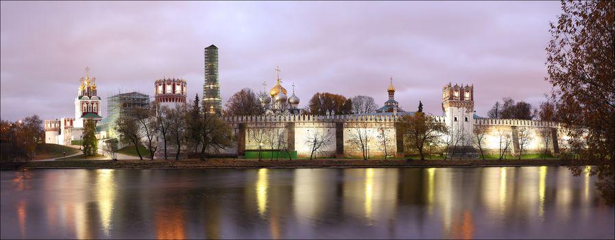 Novodevichy convent, Theotokos-Smolensky Monastery, Moscow, Russia, view