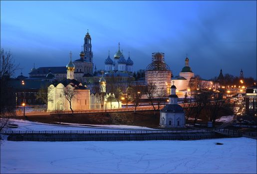 Trinity-Sergius Lavra, Sergiev Posad, Russia, Orthodox Monastery, church