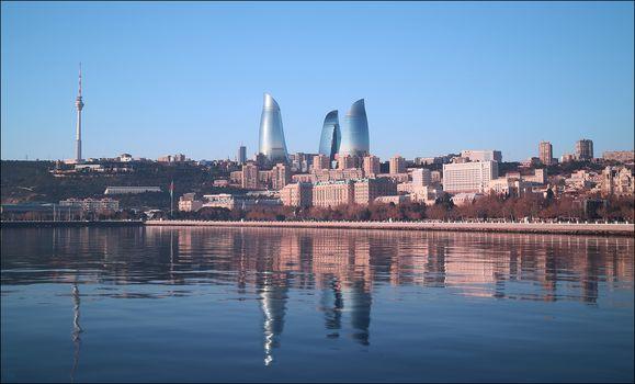 view, Baku, Azerbaijan