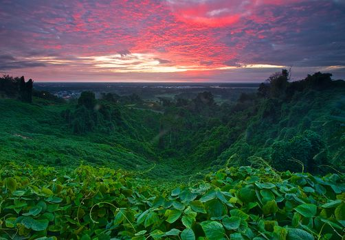 Malaysia, Miri, Sarawak, sunrise, sunset, landscape