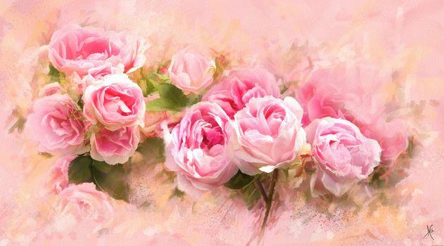 Цифровая живопись. Розы