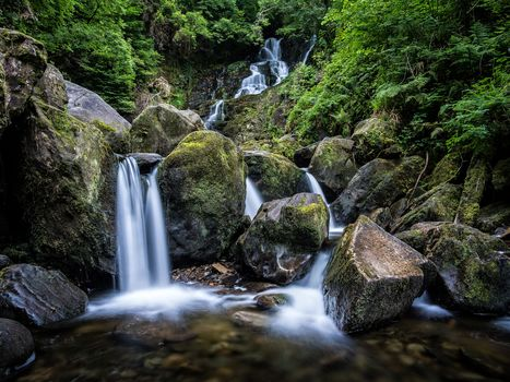 Torc Waterfall, Killarney National Park, waterfall, stones, water, moss, nature