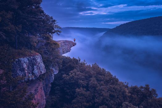 Whitaker Point, Arkansas, Whitaker-Point, Arkansas, the mountains, rock, trees, landscape