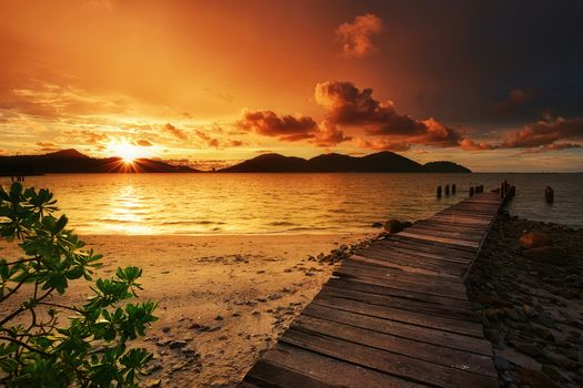 Marina Island, Malaysia, sea, sunset, beach, Coast, landscape