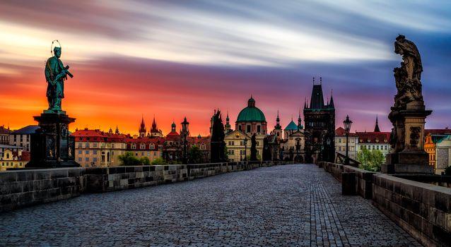 Czech Republic, Prague, Charles Bridge, Karlov Most, Czech Republic