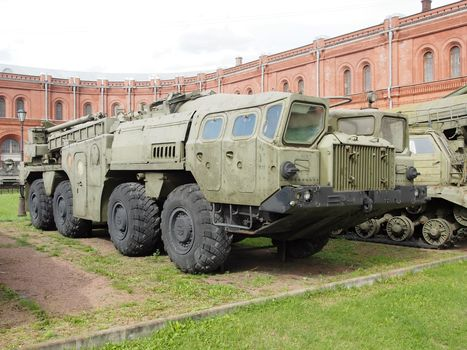 MAZ, шасси MAZ-543P, 8х8, MAZ-7310, rocket-launcher, 9P117, RK, 9K72, Elbrus, museum
