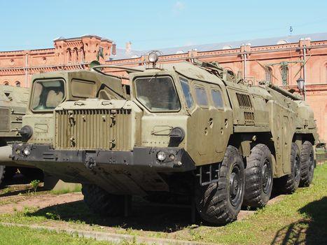 MAZ, шасси MAZ-543P, 8х8, MAZ-7310, ACU, 9P117, RK, 9K72, Elbrus, museum