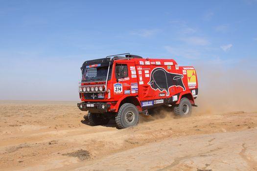 MAZ, rally, sand, desert
