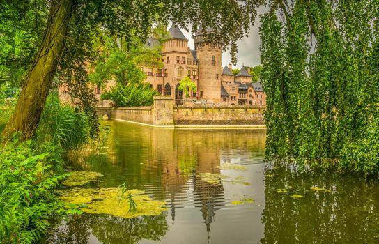 Замок Де Хаар, Нидерланды, пейзаж