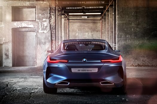 BMW, BMW 8-Series Concept, 2017, BMW, concept car, back, walls, room, shine