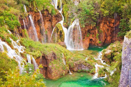 Plitvice Lakes, Croatia, Plitvice, Croatia, waterfall, landscape