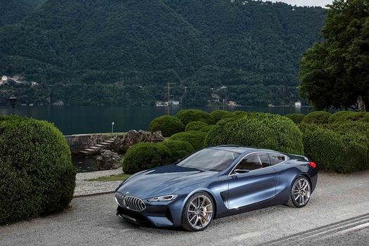 BMW, BMW 8-Series Concept, 2017, BMW, concept car, bushes, the mountains, vegetation, water, tree