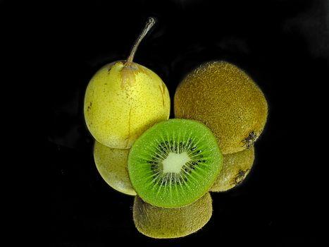 pear, Kiwi, food, dessert, fruit