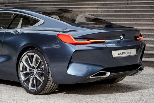 BMW, BMW 8-Series Concept, 2017, BMW, concept car, stairs, side view, задний свес, compartment