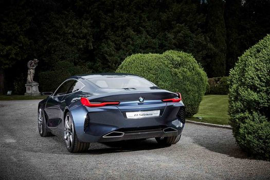 BMW, BMW 8-Series Concept, 2017, BMW, concept car, bush, greenery, vegetation, trees, a statue, lawn, asphalt