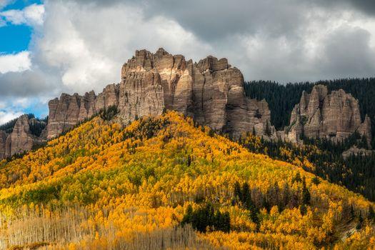 Colorado, autumn, the mountains, trees, landscape