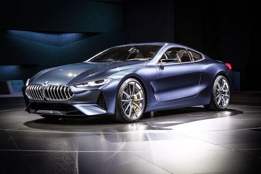 BMW, BMW 8-Series Concept, 2017, BMW, concept car, compartment, Exhibition, shine