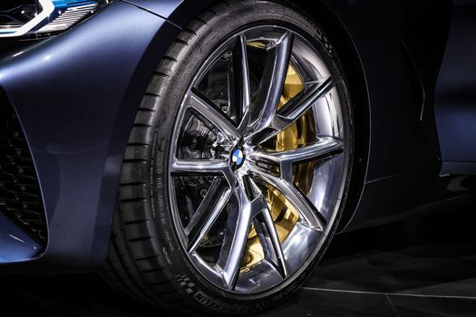 BMW, BMW 8-Series Concept, 2017, BMW, concept car, wheel, disk, support, tire, wheel arch, bumper, Door, headlight