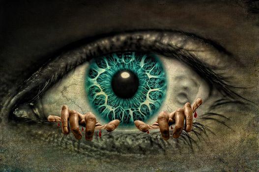 eye, arms, zrachok, art