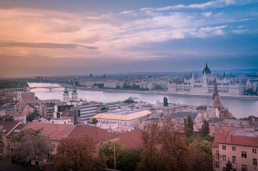 Budapest, Budapest, Hungary, sunset