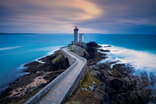 Brest, France, sunset, sea, landscape