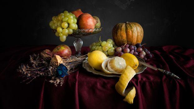 Натюрморт с фруктами (16:9, 30 шт)