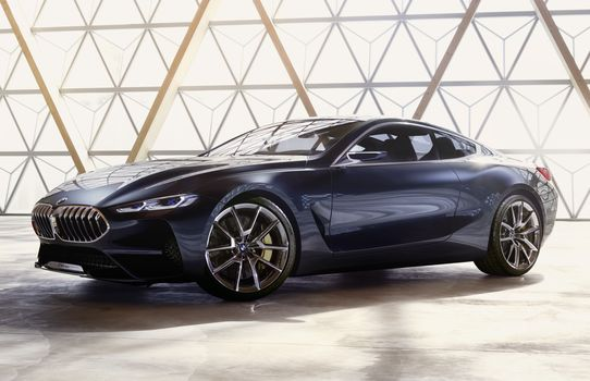 BMW, BMW 8-Series Concept, 2017, BMW, concept car, compartment, room, shine, shadow, reflection