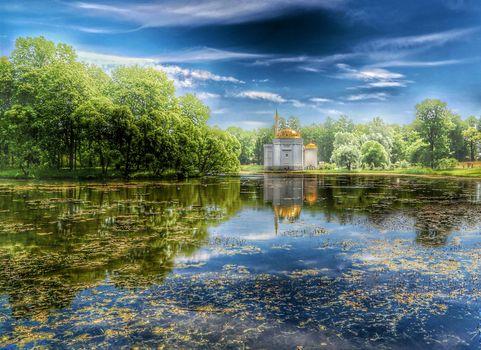 Catherine Park, Tsarskoe Selo, Turkish baths pavilion, Pushkin
