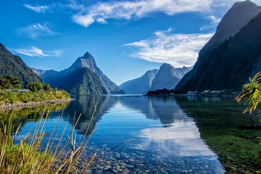 South island, New Zealand, Milford, lake, the mountains, landscape