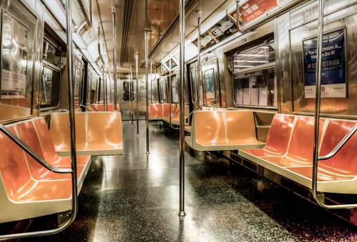 New York, empty car, Metro