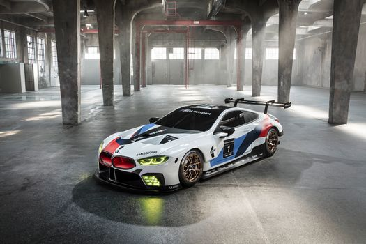 BMW, BMW M8 GTE, 2018, BMW, racing car, body, aerodynamics, lighting technology, room, shine, window