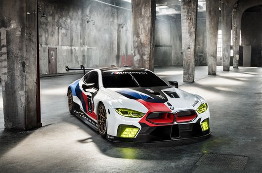 BMW, BMW M8 GTE, 2018, BMW, racing car, room, pillars, window, shine, body, rear spoiler