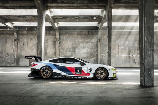 BMW, BMW M8 GTE, 2018, BMW, racing car, profile, Hall, pillars, shine