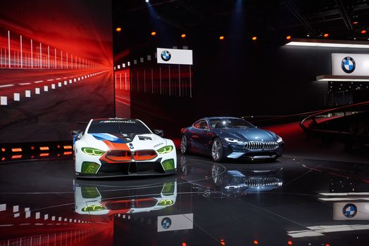 BMW, BMW M8 GTE, BMW 8-Series Concept, BMW, two, scene, shine