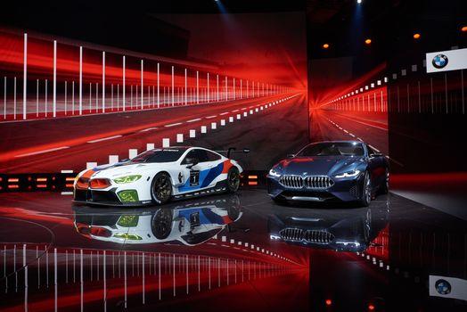 BMW, BMW M8 GTE, BMW 8-Series Concept, BMW, two, presentation, background