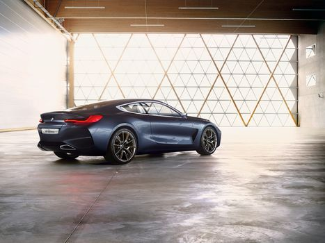 BMW, BMW 8-Series Concept, 2017, BMW, concept car, room, compartment, two-door, wall, shine, ceiling