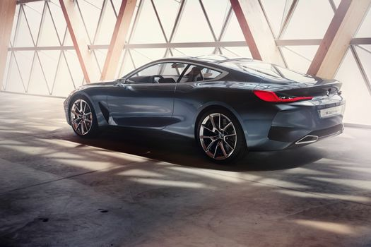 BMW, BMW 8-Series Concept, 2017, BMW, concept car, compartment, room, wall, shine, shadow