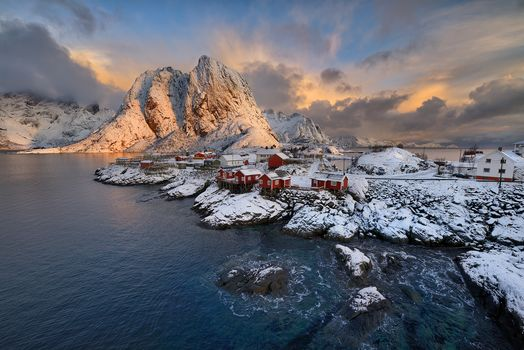 Лофотенские острова, Рейне, королева, Норвегия, Лофотенские, Лофотенские острова, Hamnoy, Норвегия