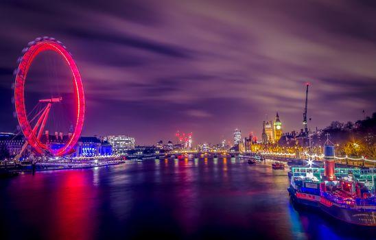 Westminster, London, Westminster, London, night, illyuminatsiya