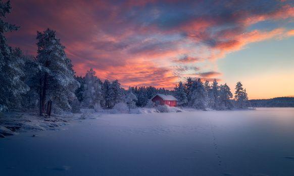 красивый закат - Норвегия 2