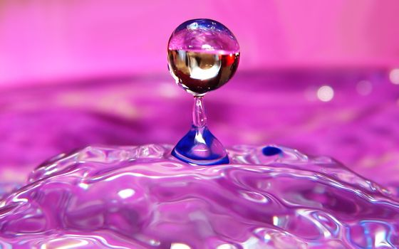 movement, water, drops, sphere