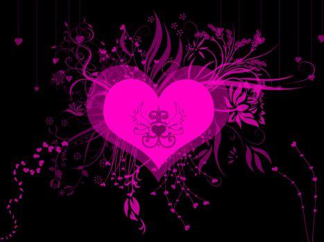 сердечки, сердечко, Валентинка, валентинки, абстракция, фон, цвет, форма, текстура, фрактал, обои для рабочего стола