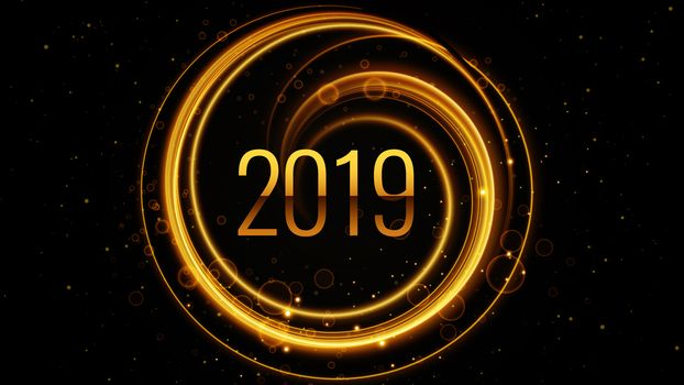 2019 на черном фоне (UHD, 30 шт)
