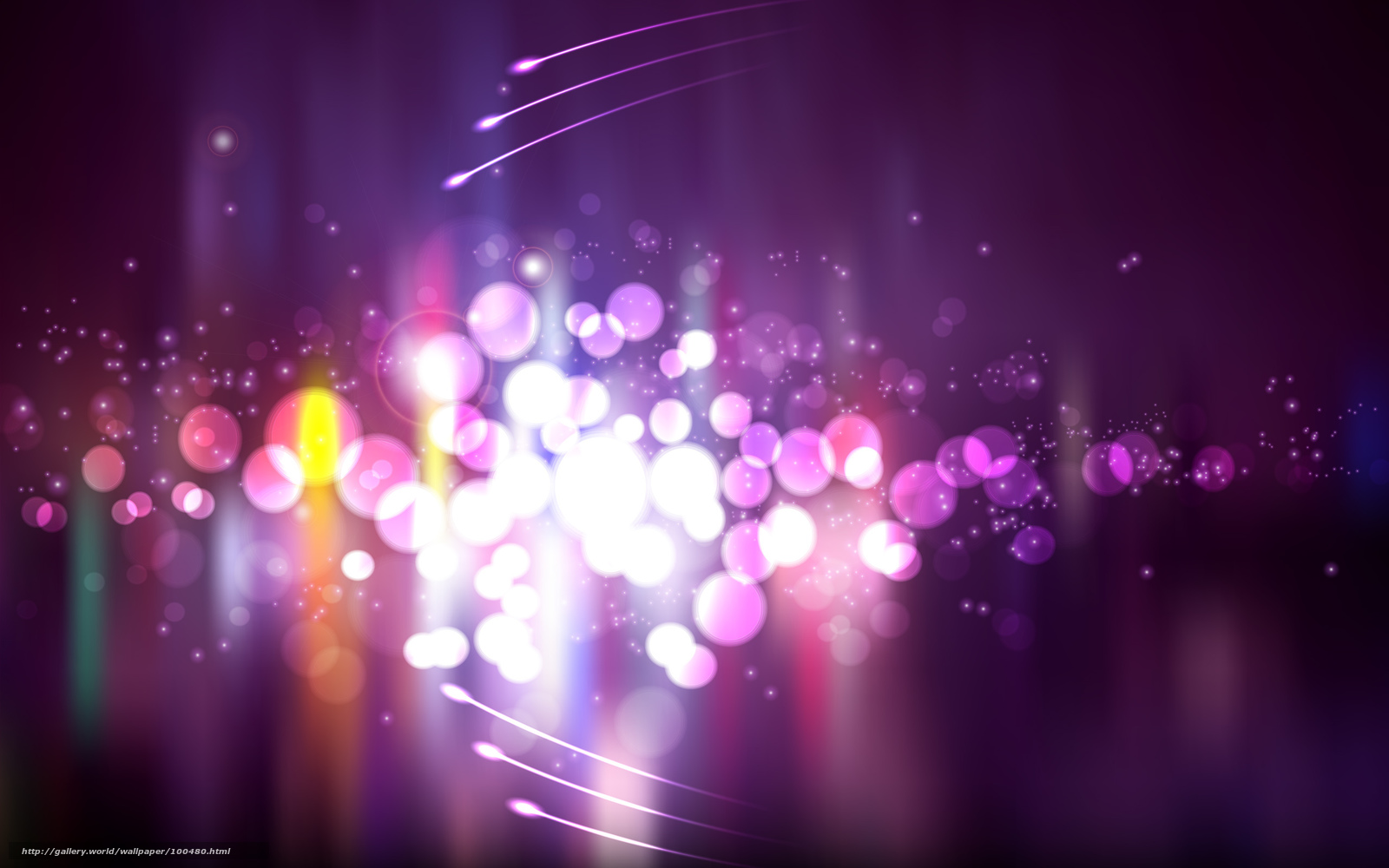яркие, огни, круги, фиолетовый