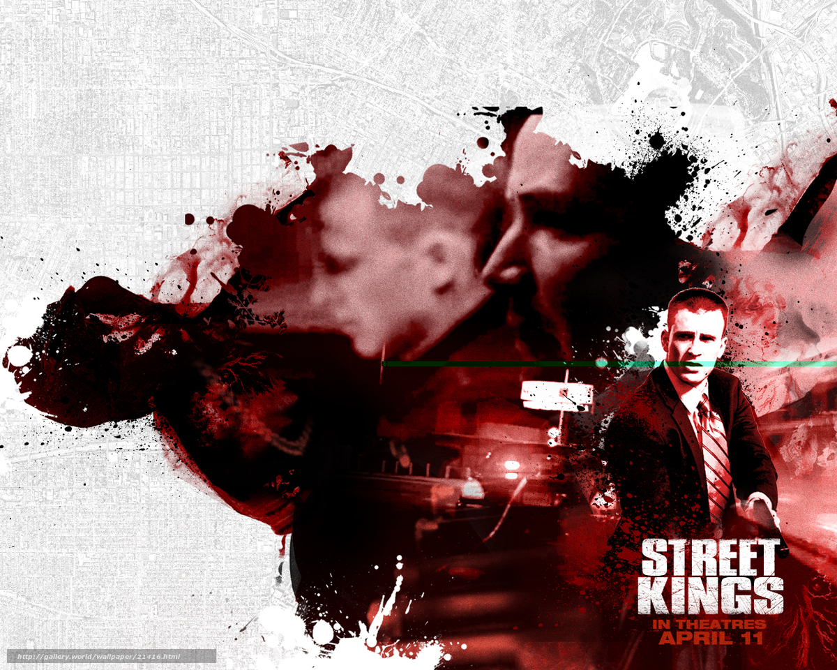 from the movie street kings 2 Street kings is an 2008 action/adventure movie starring keanu reeves, forest whitaker and common the story line revolves around keanu reeves character tom, who is an detective for the los angeles police department.