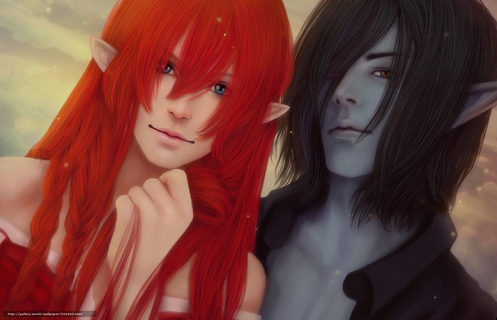 Redhead elf sex image