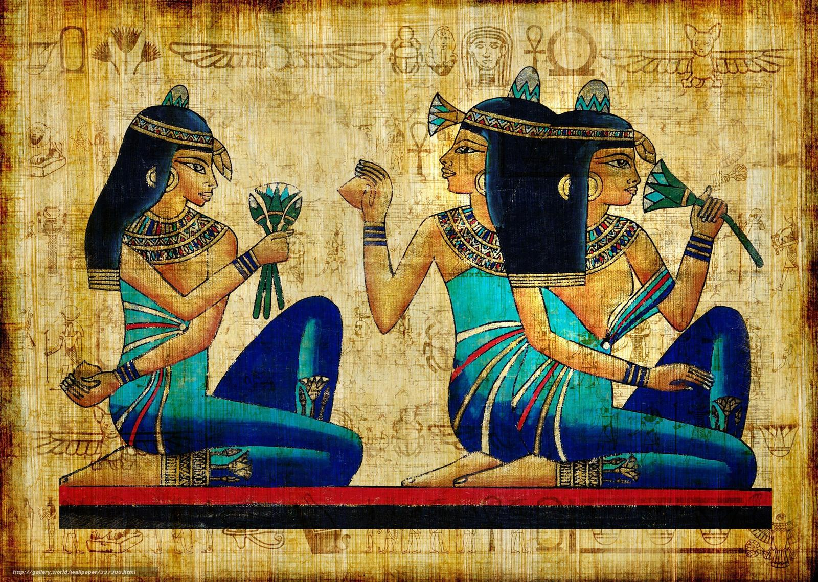 Egypt, picture, antiquity, Girls, Brunette